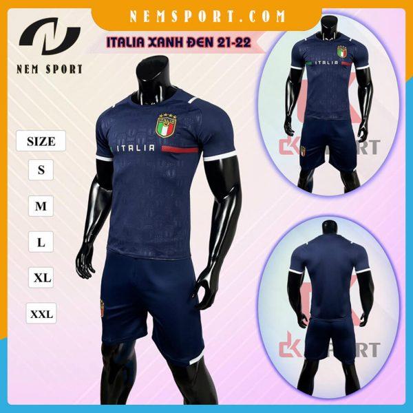 quần áo bóng đá đội tuyển ý italia xanh