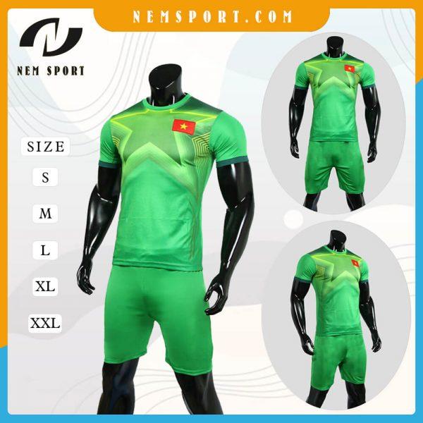 quần áo bóng đá đội tuyển việt nam xanh
