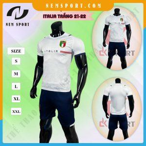quần áo bóng đá đội tuyển ý italia trắng