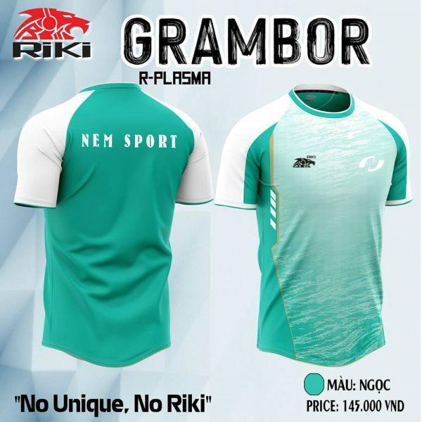 áo đá bóng không logo riki grambor
