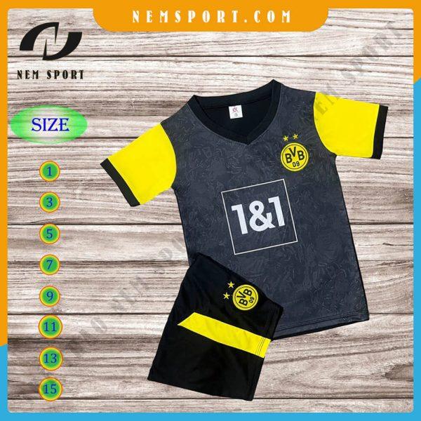 quần áo bóng đá trẻ em dortmund