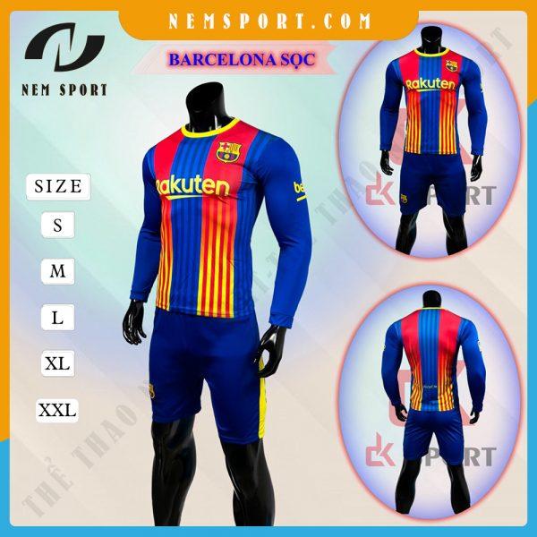quần áo bóng đá tay dài Barcelona