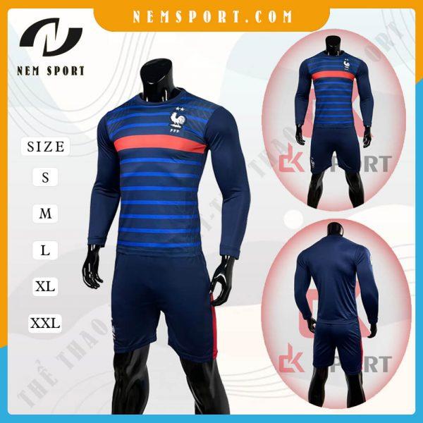 quần áo bóng đá tay dài đội tuyển pháp