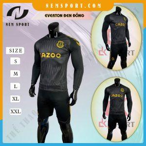 quần áo bóng đá tay dài Everton