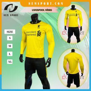 quần áo bóng đá tay dài liverpool