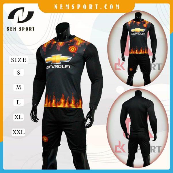 quần áo bóng đá tay dài manchester united