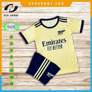 quần áo bóng đá trẻ em arsenal