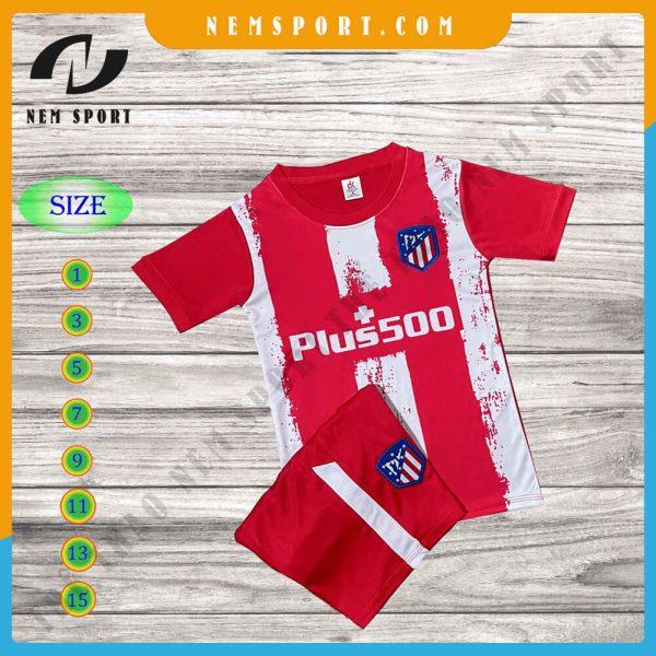 quần áo bóng đá trẻ em atletico madrid