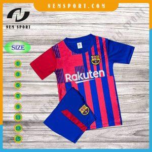 quần áo bóng đá trẻ em barcelona