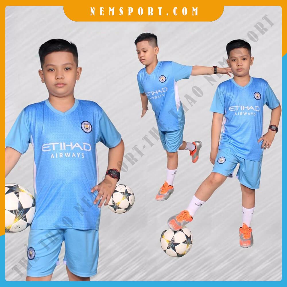 quần áo bóng đá trẻ em manchester city sân nhà