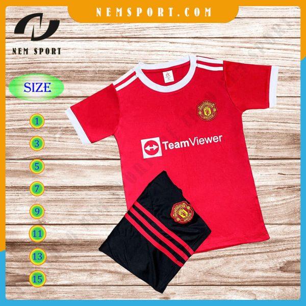 quần áo bóng đá trẻ em manchester united