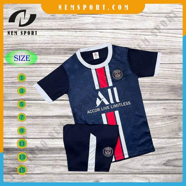 quần áo bóng đá trẻ em paris saint germain