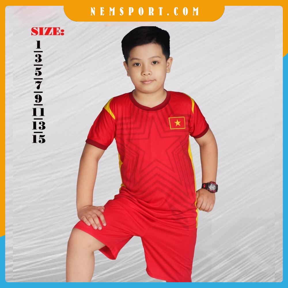quần áo bóng đá đội tuyển việt nam đỏ
