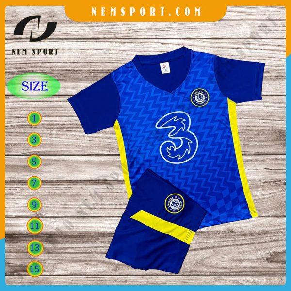 quần áo bóng đá trẻ em chelsea